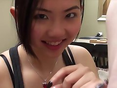 pretty Asian blow job 3