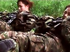 Japanese hotties in the military get hungry for sex in a mission