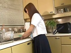 japanese babe gives her boyfriend a blowjob