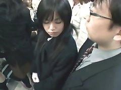Japonský Handjob Metro 02