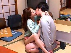 Hottest Japanese whore Akiho Yoshizawa in Horny kitchen, couple JAV scene