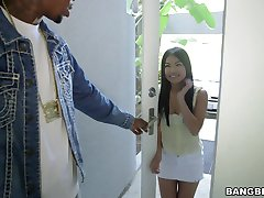 Cindy Starfall takes giant black cock