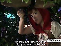 Subtitled CFNM Rin Tomosaki bizarre forest handjob