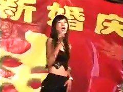 Chinese girl nude dance on the wedding
