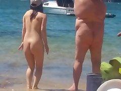 Ázijské dievča na nuda pláž Sydney časť 2