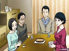 Hentai dievča hovno a dostane olízl