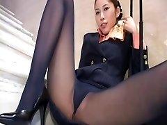 Japonský pantyhose upskirt