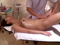 Writhes In Voyeur Shaved Massage