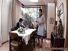 Horny japanese mature babes engulfing part4