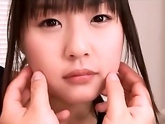 Adorable Asian teen Tsubomi in swimsuit fingering pov action