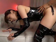 Exotic Japanese chick Miyuki Yokoyama in Greatest fetish, latex JAV gig