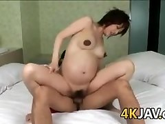 Pregnant Asian Beauty