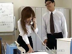 Japanese secretary from Tokyo with bum milk