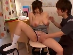 Greatest Japanese whore Yui Serizawa in Crazy Cunnilingus, Babysitters JAV clip