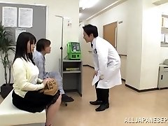 Big boobed Japanese teenager Aimi Irie in medical adventure
