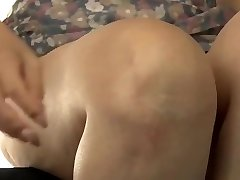 Japanese mom making son practice hook-up