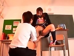 Exotic Asian fuckslut Misa Ando in Amazing Babysitters, Cheerleaders JAV clip
