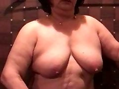 Asian BBW Granny Using Magic Wand
