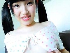 Stunning Jav Teenie Moe Goto Taunts Taking Her Panties Off