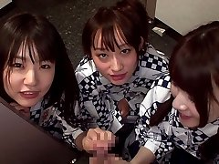 Smoothly-shaven Girl Threesome - TeensOfTokyo