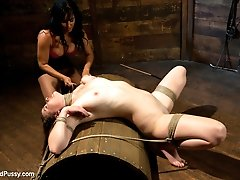 Isis Love puts a local amateur model through her paces on Wiredpussy. She is pushed to her...