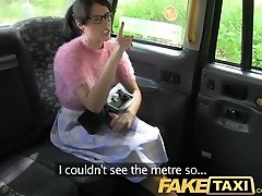 FakeTaxi Dark-haired with glasses pays the price for being rude