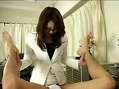 Japanese Doctor In Glasses Uses Cable on