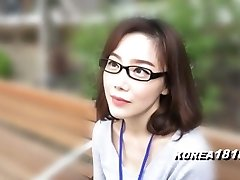 KOREA1818.COM - korean Ultra-cutie in glasses