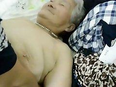 80yr older Japanese Grannie Still gets Creamed (Uncensored)