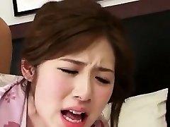 Αξιολάτρευτο Σέξι Κορεατική Κορίτσι Πηδάει