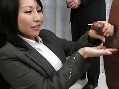 Amazing Japanese whore Yuuna Hoshisaki in Greatest JAV uncensored Handjobs pinch