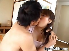 Nasty japanese MILFS sucking and fucking