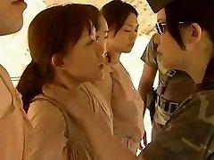 Asian Lesbians Smooching Molten !!
