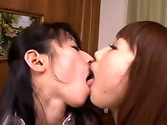 Japanese Giant Milk Cans, Lesbian Tongue Kissing, Tribbing, 3-way