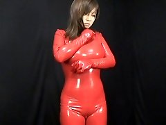 Asian Latex Catsuit 59