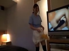 Asian Motel Maid Getting Poked