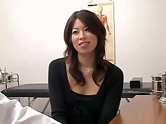 Uber-cute Jap slut crammed from behind during a medical check-up