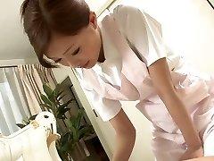 Sexy Nurse jerks her patient's bone as a approach