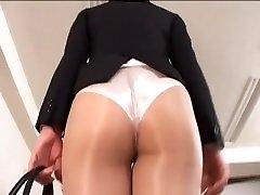 Officelady में सरासर pantyhose