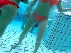 sexy asian and  teen women nice  butts at pool