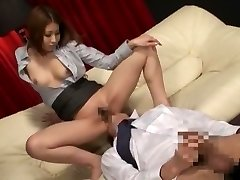 Unbelievable Japanese breezy in Exotic Secretary, Massage JAV clip