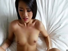 Japanese poked in the bed