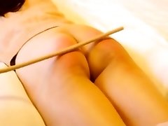 Chinese inexperienced caning with marionette Niu