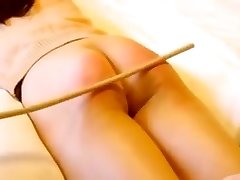 Japanese girl flagellating