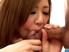 Rin Saotome gulps after serious Japan trheesome