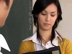 Maria Ozawa-karstā skolotājs ar seksu skola