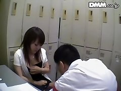 Ugly Japanese babe deep throats dick in spy cam Japanese sex video