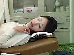 Very cute Asian babe gets a dirty Obgyn examination with a toy