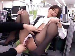 Horny homemade Secretary, Office sex clamp