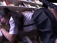 Jav Idol Suzu Ichinose Ambushed In Library Finger Splooged